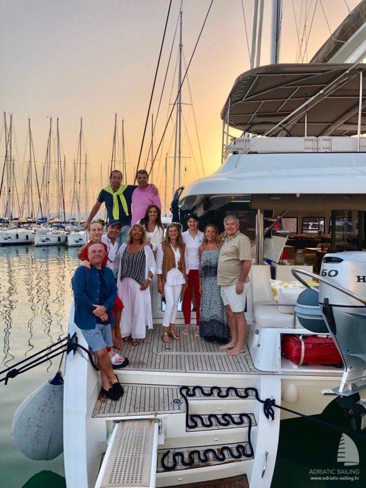 Luxury crewed catamaran